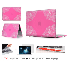 Lace Paisley Floral Matte Case For Macbook Air 11 Air 13 Pro 13 Pro 15 Retina 13 15 Case For Macbook Pro 15 Case Keyboard Cover