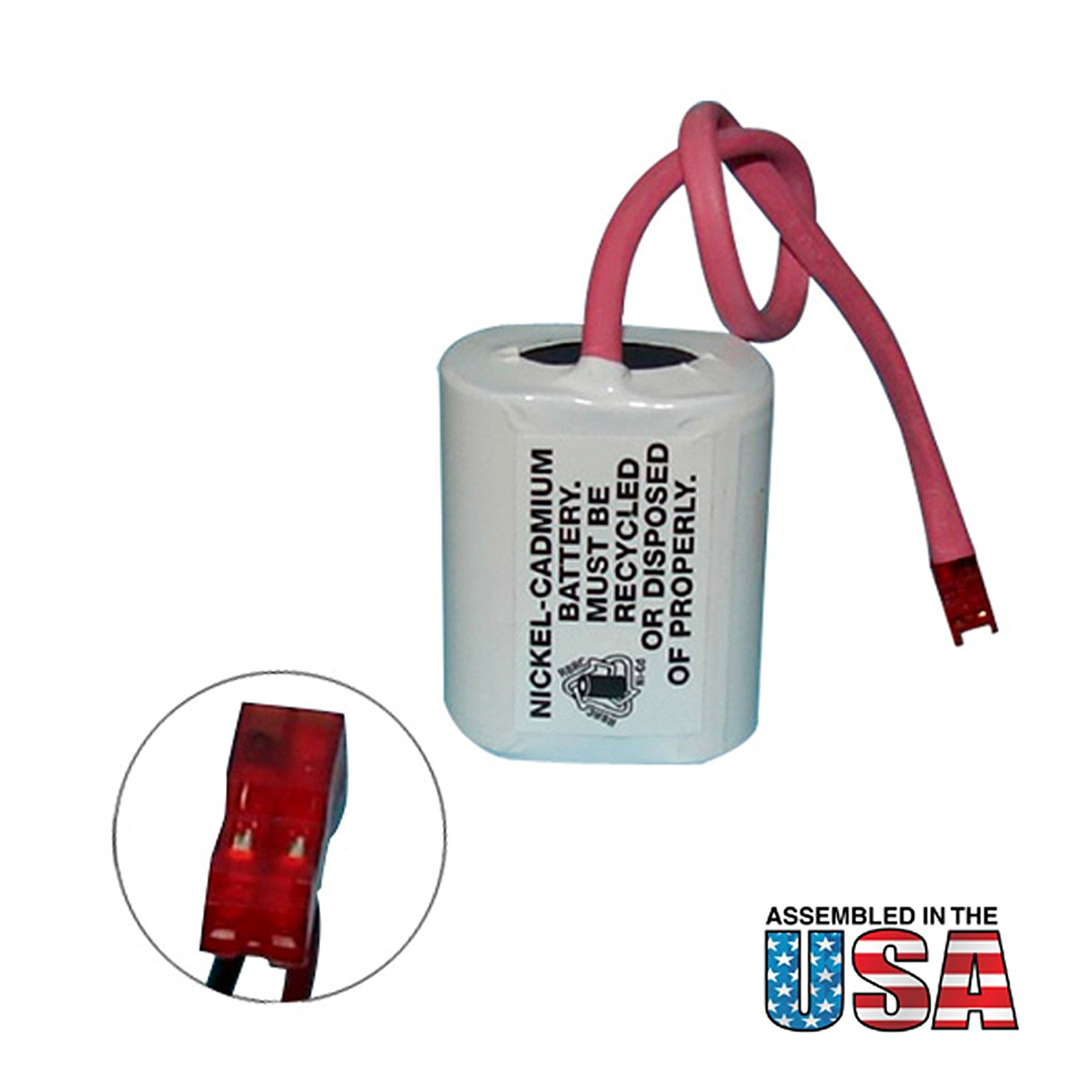 Exell Battery Emergency Lighting Battery Fits and Replaces Interstate ANIC1158, Lithonia ELB2P401N, Powercell PCNA4/5-2-SR-LC FAST USA SHIP