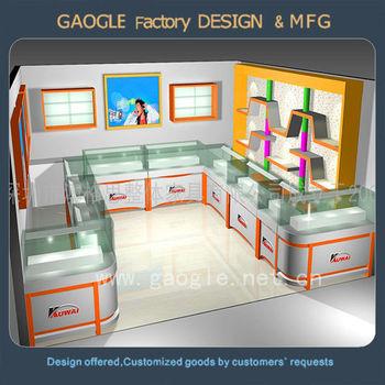 Modern Wooden Glass Jewellery Showroom Interior Design