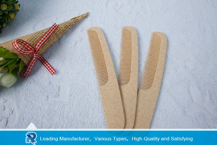 Factory direct supply short handle hotel rubber hair comb
