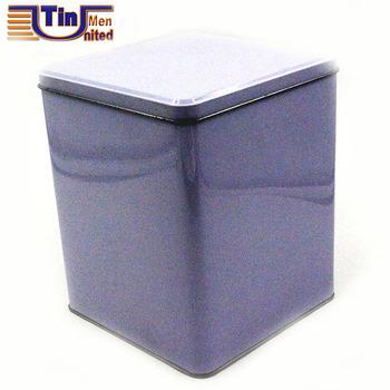 Charmant Big Square White Porcelain Style Storage Tin Box