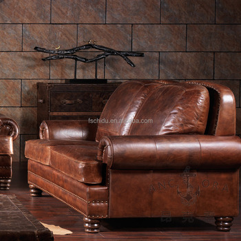 American Retro Style Royal Furniture Old-fashioned Leather Sofa - Buy  Old-fashioned Leather Sofa,American Retro Style Sofa,Vintage Sofa Product  on ...