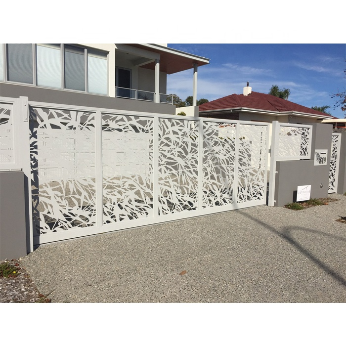 Backyard Decorative Laser Cut Metal Sheet Privacy <strong>Screen</strong> and Garden Fence