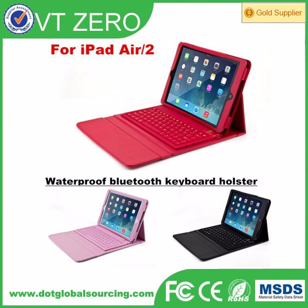 Colorful For iPad Air 2 Silicone Wireless Bluetooth Keyboard Cases