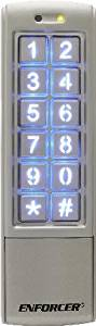 Seco-Larm Indoor/Outdoor Mullion-Style Keypad With Proximity Reader 2 Multi-Colored Status LEDs