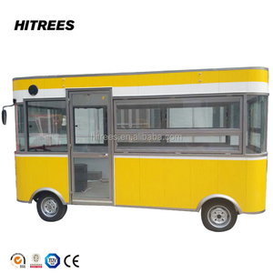 Fast Food Car / Fast Food Trailer van outdoor catering / Hitrees High Quality popcorn buffet car hot burger kiosk house