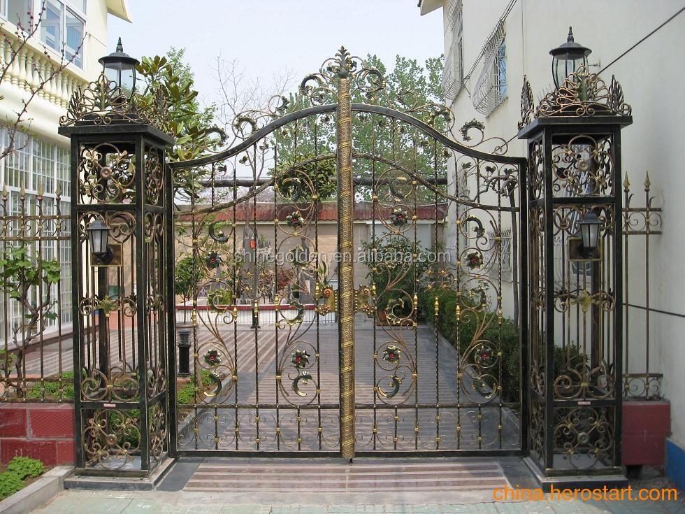 Nouveau design moderne jardin artistique en fer forg de for Porte barriere jardin