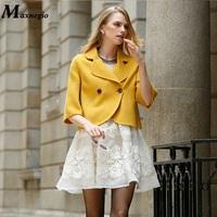 Guangzhou Women Clothing Factory Customized New Brand Design Short Coats Winter Jacket For Women 2015