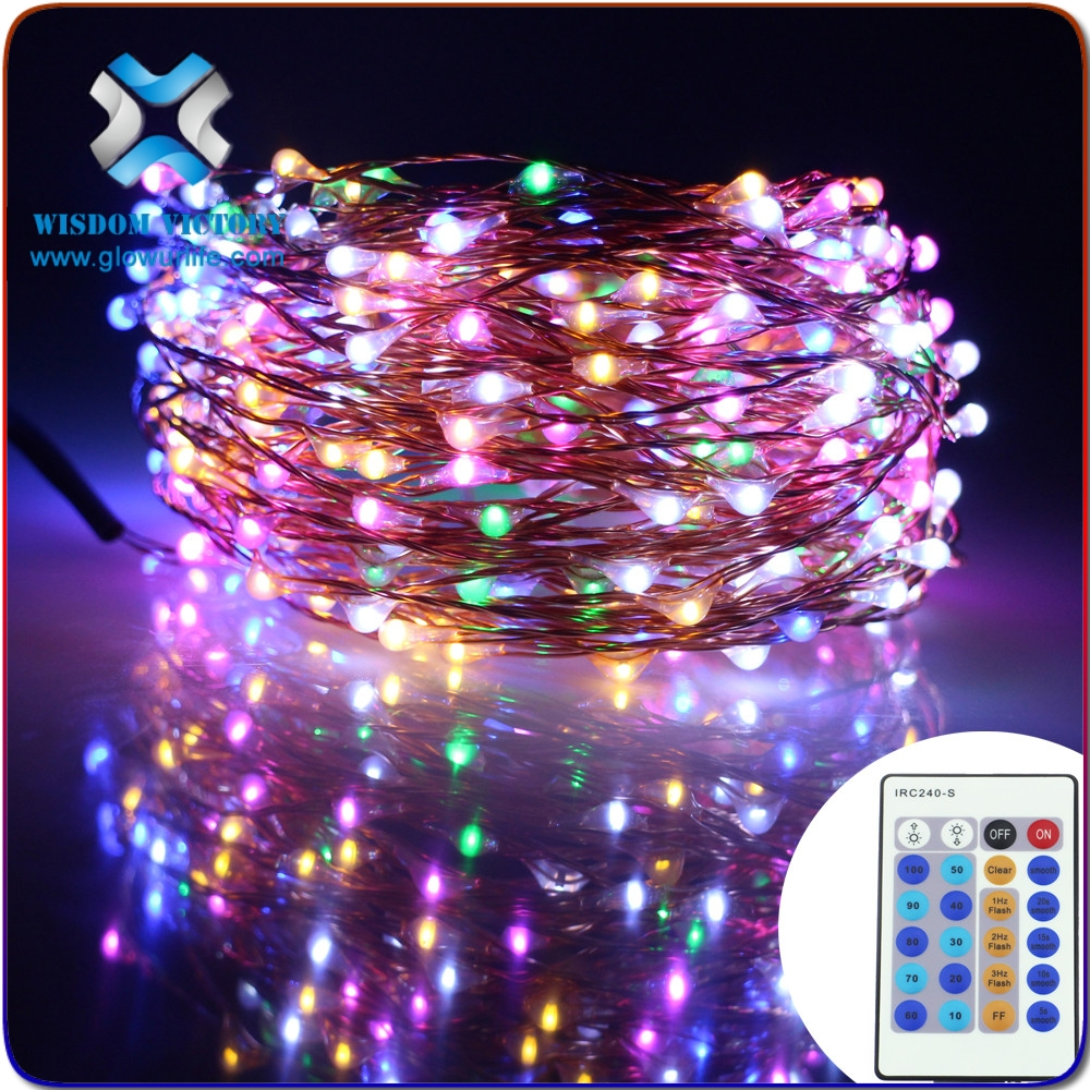 Wisdom Victory Dimmable LED Starry String Lights 33ft Copper Wire,5v Power Adapter