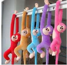 free sample 80cm Hanging Long Arm Monkey Stuffed Animal Plush Baby Toys Dolls Soft Kids Gift