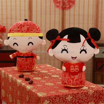 China Hand Made Paar Plüsch Puppen Klassische Hochzeit Geschenk Mit Tang Anzug Buy Hochzeit Puppe Mit Tang Anzughochzeit Puppe Tragen Traditionelle