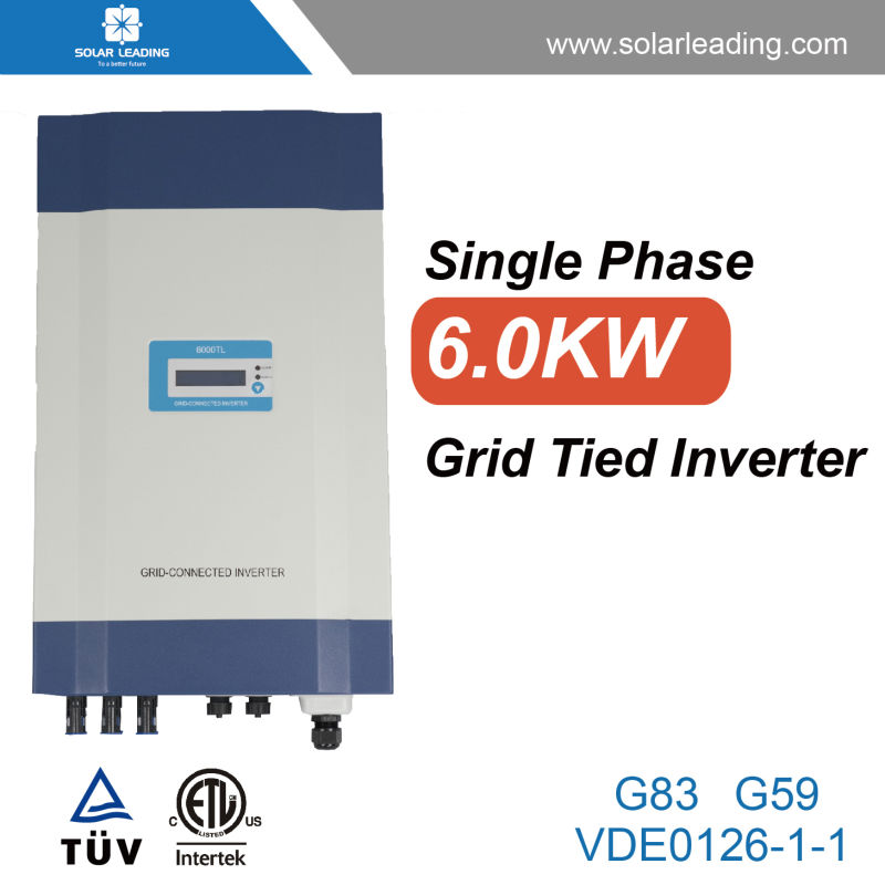 Home used 6kw solar on grid inverter connect to twin solar cable for solar energy system