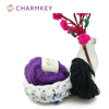 Charmkey Sweet Bamboo is a hand-dyed yarn crochet for openwork pattern and lace scarf