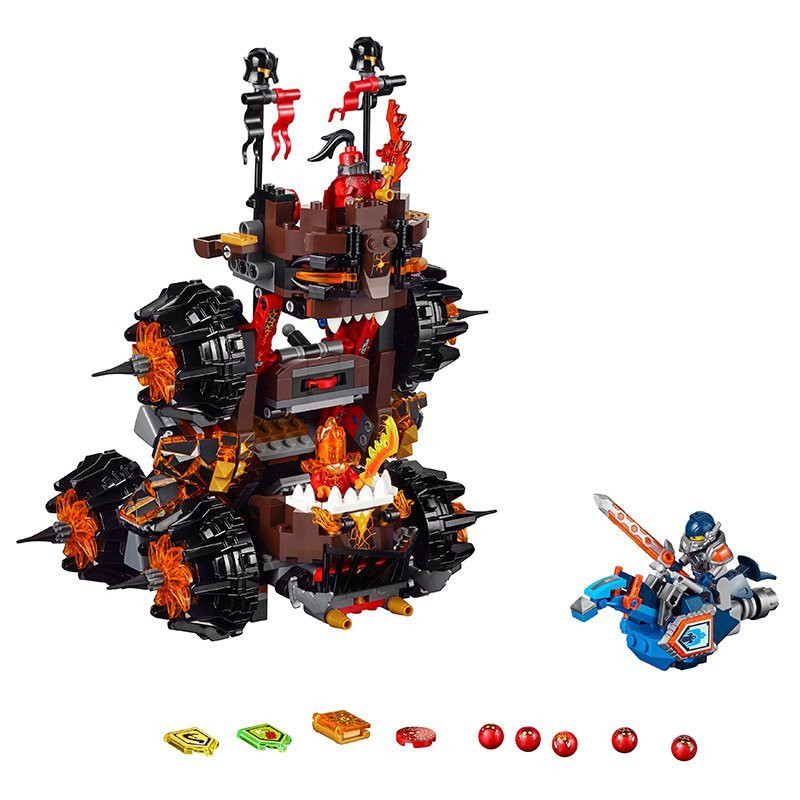 UKLego Nexo Knights Axl General Magmars Siege Machine of Doom.