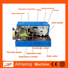 New Design Semi-automatic Ink Envelope Stamp Cancelling Machine