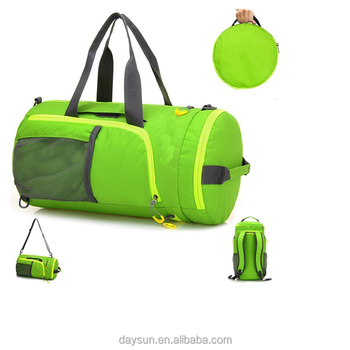 Gym Bag 3 In 1 Foldable Sports Duffel Football Backpack Travel For Soccer