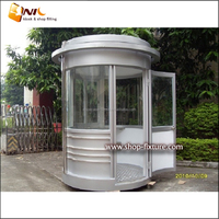 Mobile Prefabricated Sentry Box Booth Stainless Steel Guard house