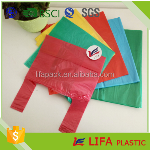 cheap supermaket t-shirt plastic shopping bags