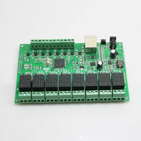 V5.0 8Ch Relay Network IP Relay Web Relay Dual Control Ethernet RJ45 interface