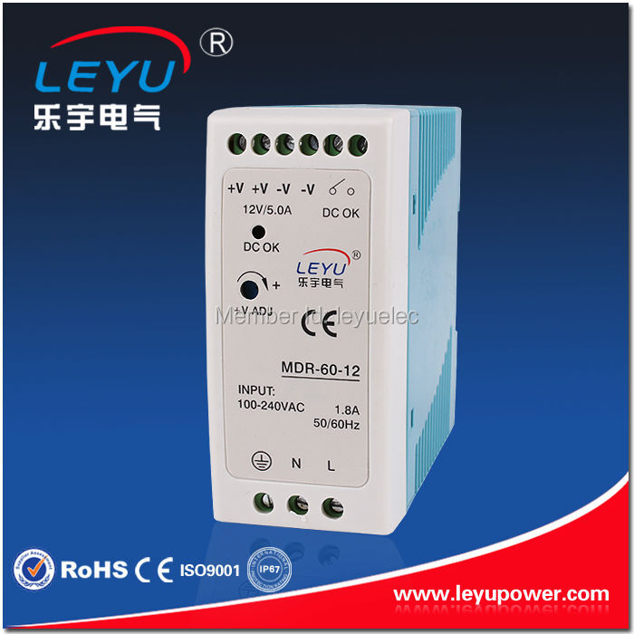 MDR - 60w -12v single out put switching power supply high quality CE RoHS 6A mini size Din rail switching power supply
