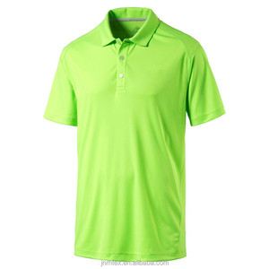 100% cotton safety green color polo shirts