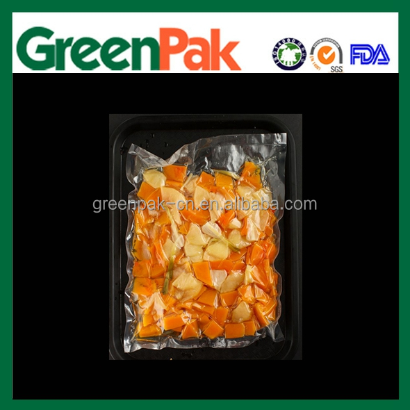 Flexible packaging materials for vegetables/ 3-side seal vacuum bag