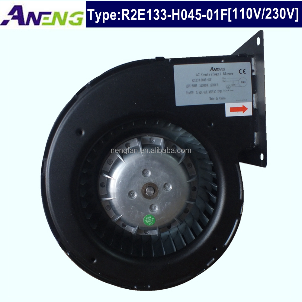 133mm 100% Copper 110 220 volt ac hot air / dust centrifugal industrial ventilation exhaust fan 220v 110v