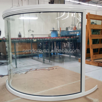 Very High Quality Curved Aluminum Frame Fixed Large Glass Windows - Buy  MB67