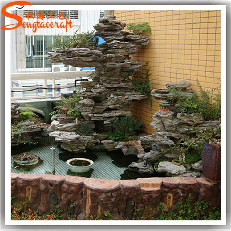 2015 casi natural alta calidad artificial pl stico cascada for Cascada artificial jardin