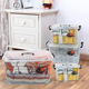 Plastic Stackable Toy A4 Container Home Organizer Storage Box With Wheel