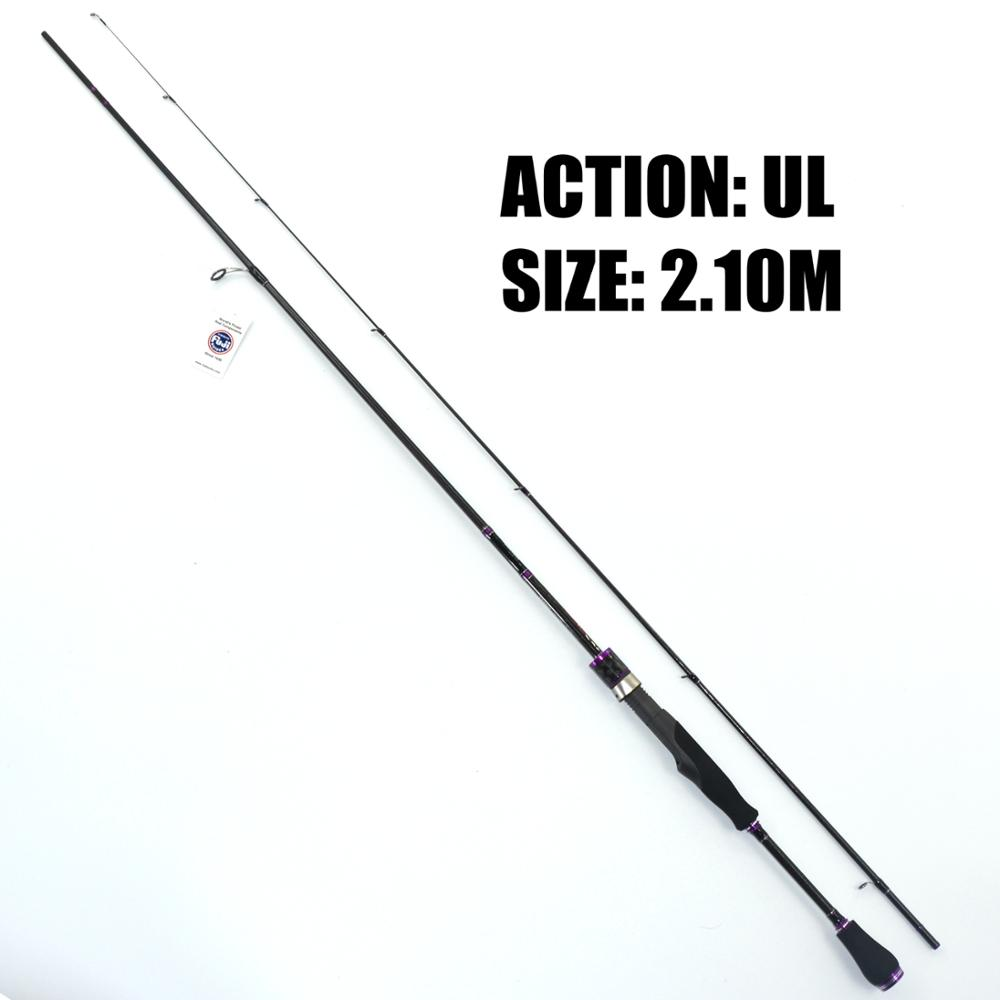 TAKEDO top quality fishing Rod Carbon Rod sea Bass Spinning Rod 702UL ultra light solid tip spinning rods with fuji components