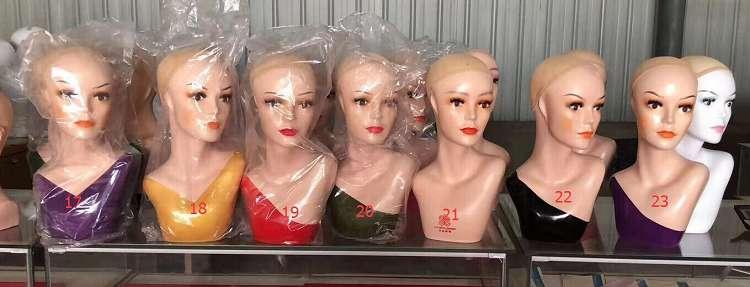 KIKI NEWGAIN ขายส่งราคาถูกหัวแสดงวิกผมหญิงปรับจอแสดงผลรุ่นหัวนางแบบ
