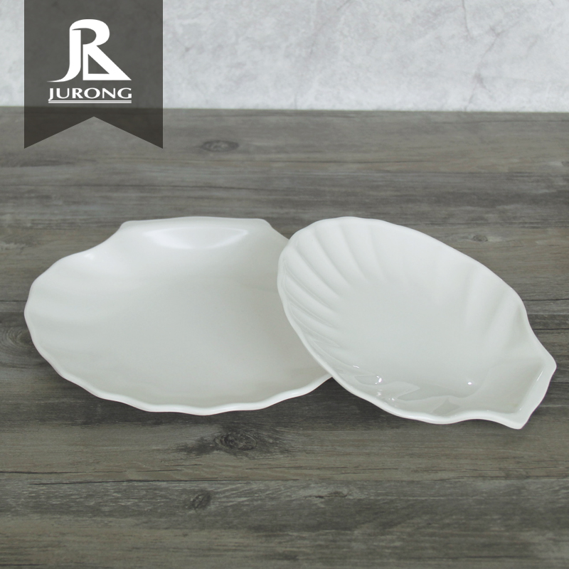 Hot selling custom unique food melamine sauce divided plate