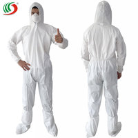 Disposable fabric cleanroom suits work coverall protective clothing