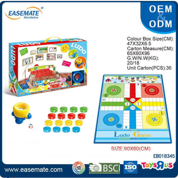 Large color box ludo board game for children