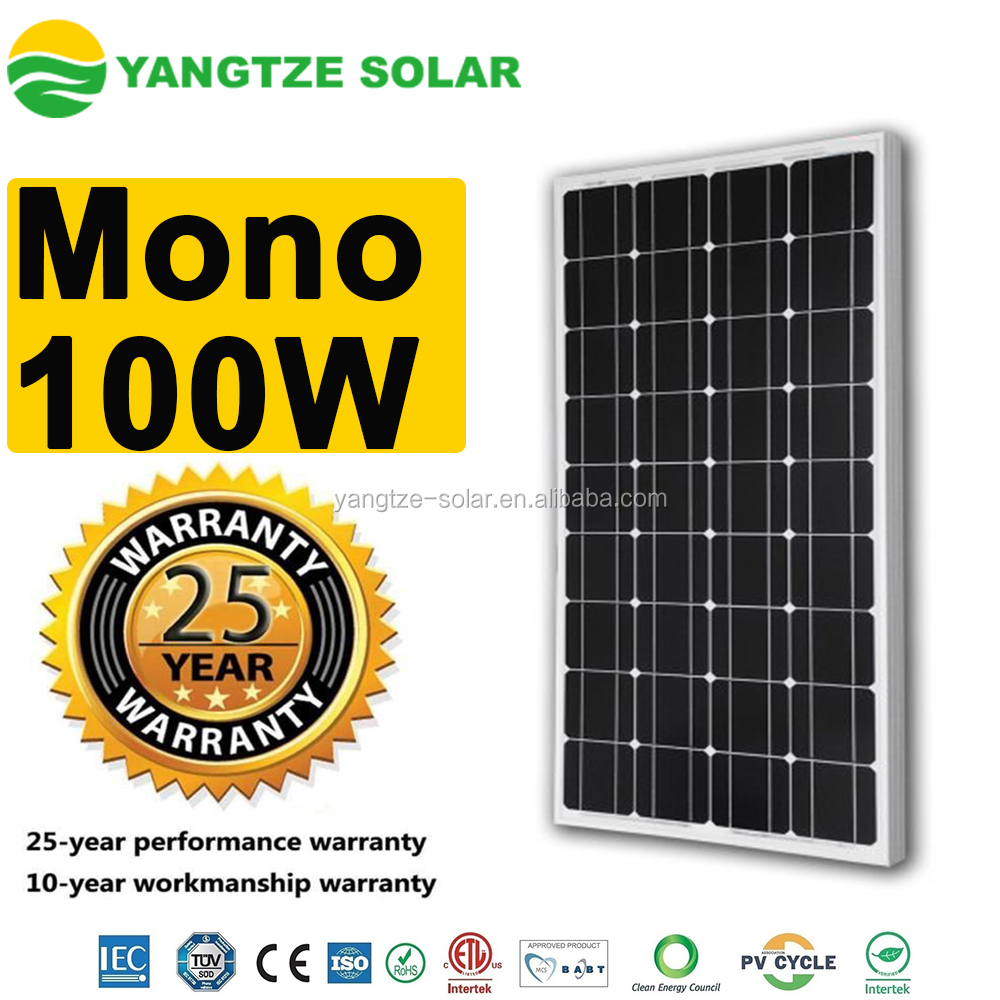 Yangtze high efficiency cheap mono solar panel 100w