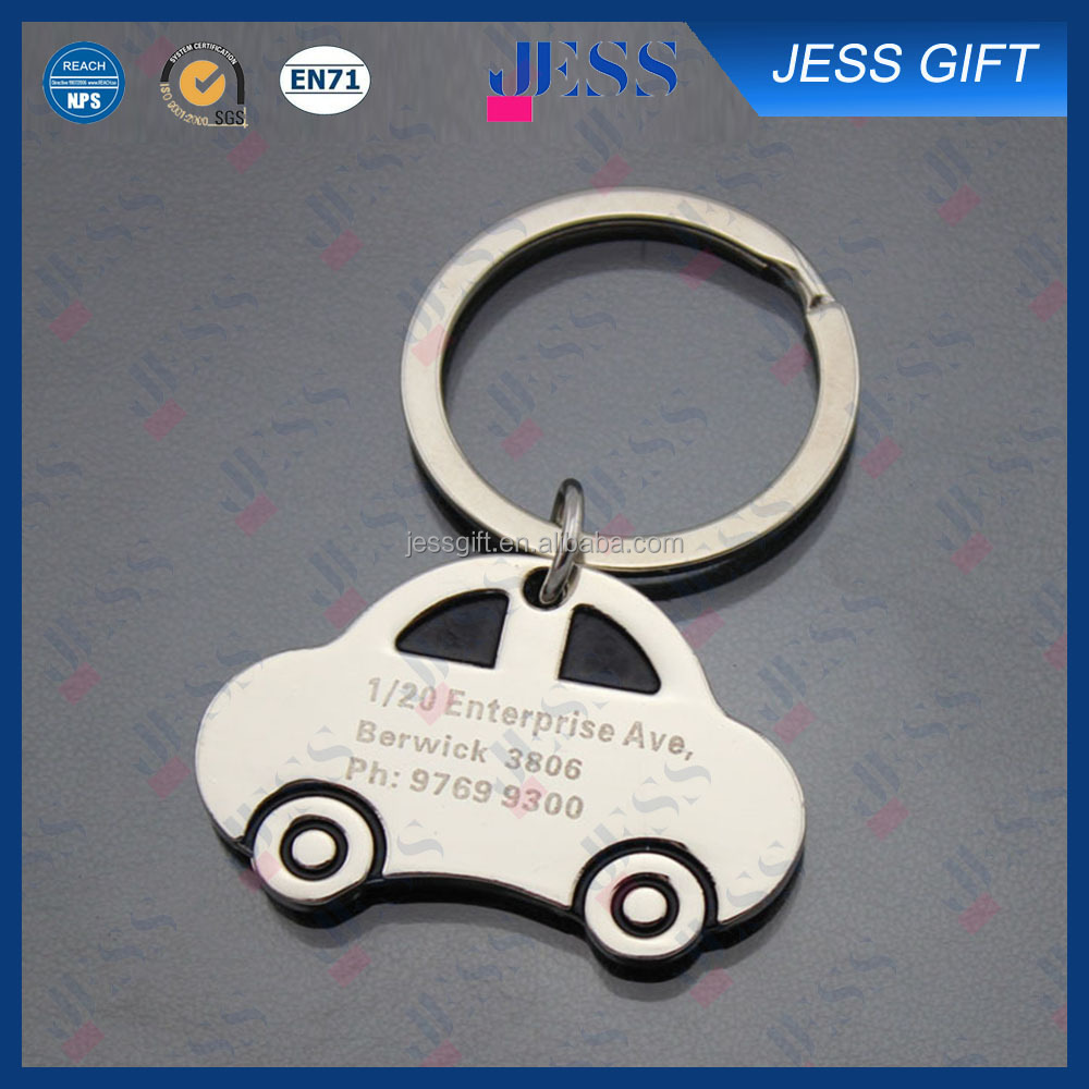 Premium gifts custom car shaped metal keychain for promotion