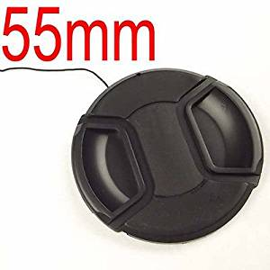 55mm Front Lens Cap Hood Cover Snap-on for Sony Minolta Leica Tamron Canon Nikon