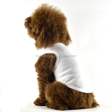 Hot-selling high quality pet dogs clothes customized blank dogs tank tops plain dogs vest for smalll/medium/large dogs