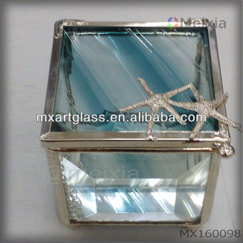 MX160098 solder stained glass jewelry box for gift sets