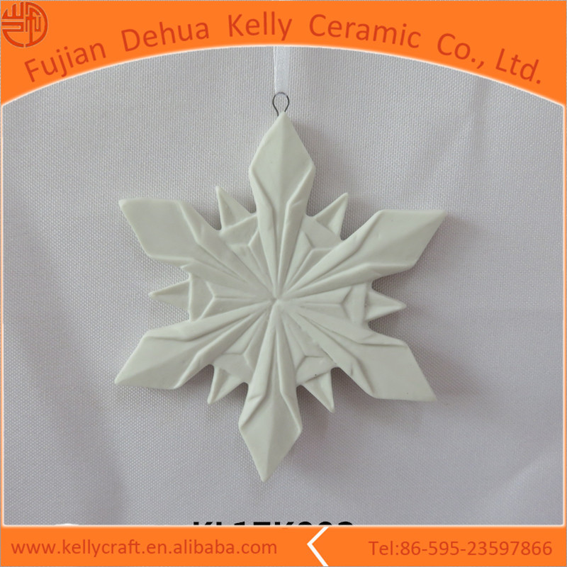 Snow hanging home or garden decor ceramic popular ornaments