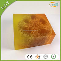 Clear color natural laurel olive oil luffa handmade Soap