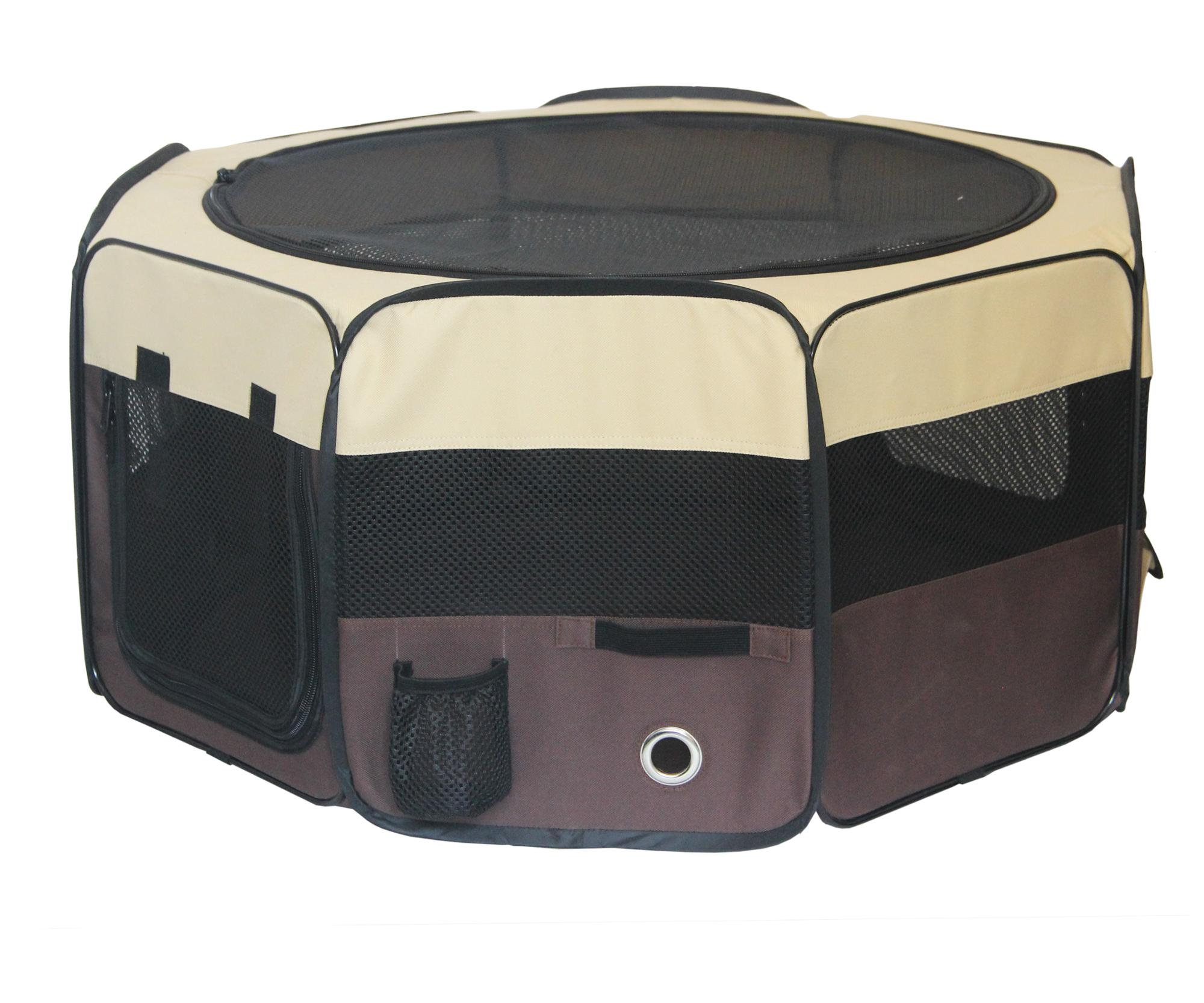 Foldable 8 Panels Pet Playpen dog camping tent with Carry Bag for indoor&outdoor