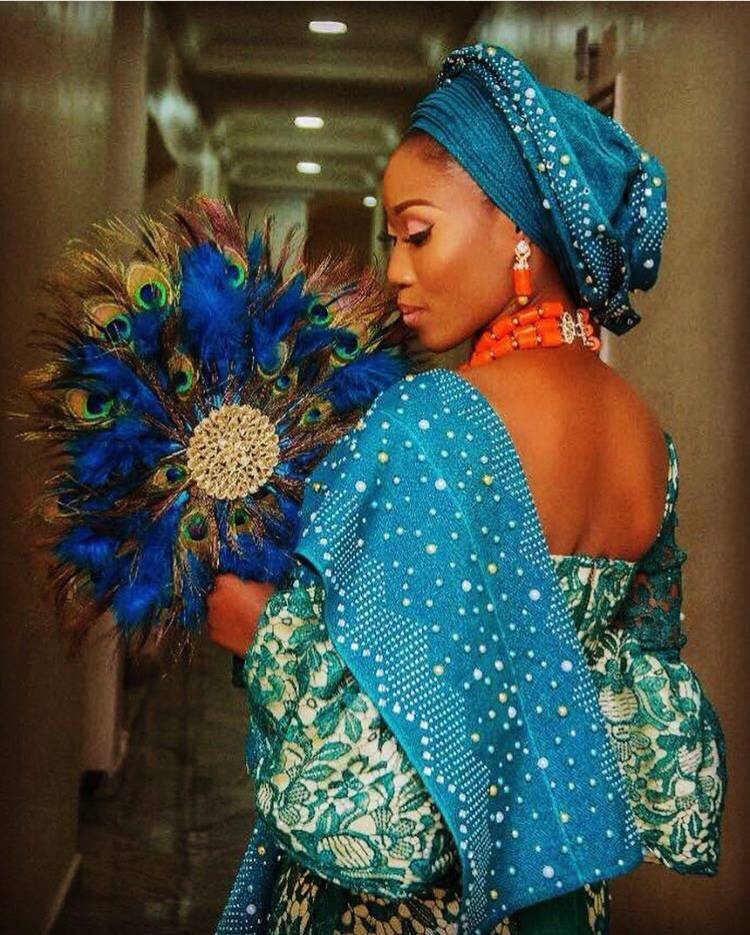 New Arrival Design hot sell Aso Oke Head Tie for lady party