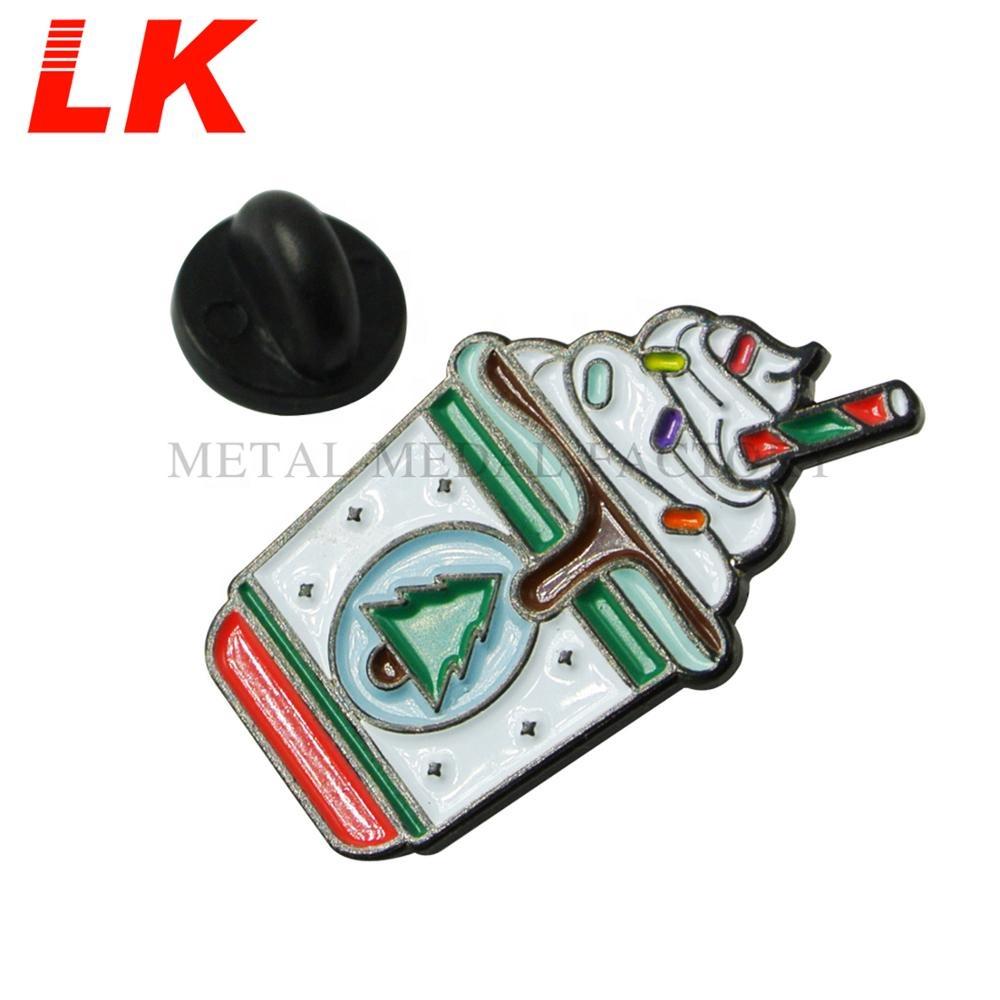 Custom Ice Cream Metal Soft Enamel Tie Lapel Pin Badge