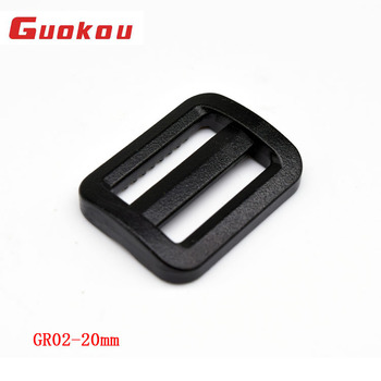 Wholesales customize color 20mm plastic triangle glide buckles