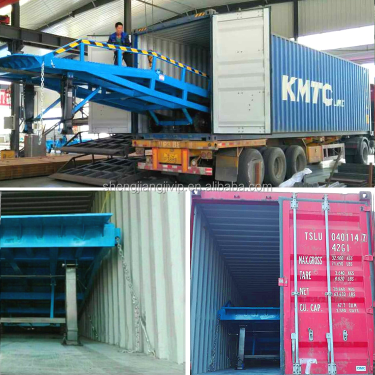 Mobiele Hydraulische Container Ramp Laden Auto Ramp Helling