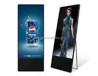 "Free Standing Portable 43"" Advertising LCD Display Screen Digital Signage for Restaurant"