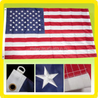 3x5 FT US American Flag Best 100% Cotton Valley Forge Flag Embroidered & Sewn