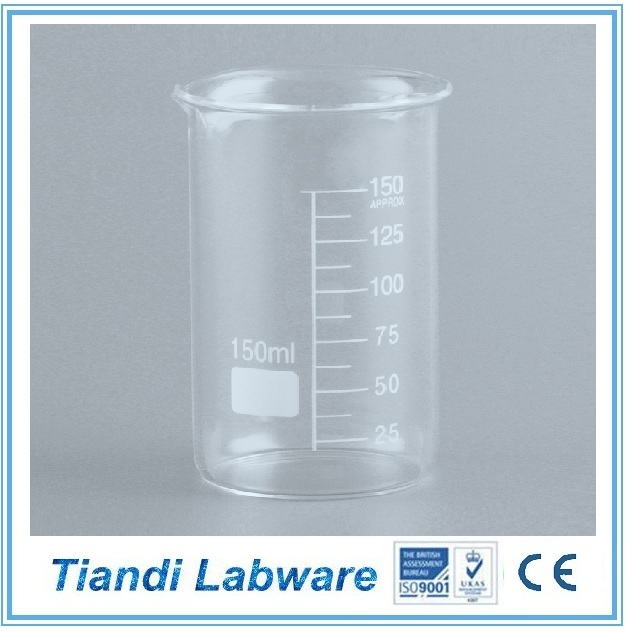 Chemistry Lab Equipment Of Borosilicate Glass Beaker